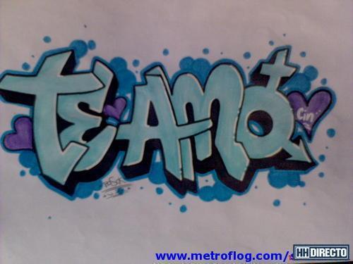 graffiti de te amo en papel | Resultados de la búsqueda | Imágenes ...