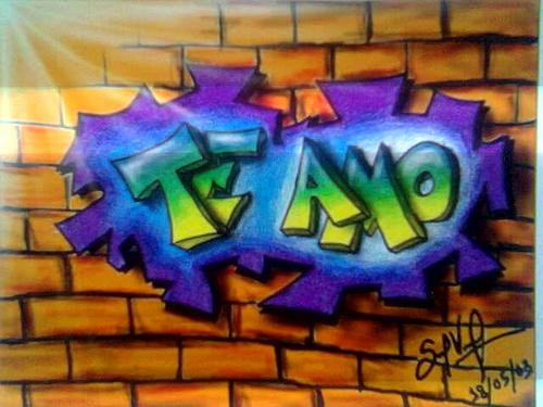Graffitis para decir Te Amo | Imágenes actual