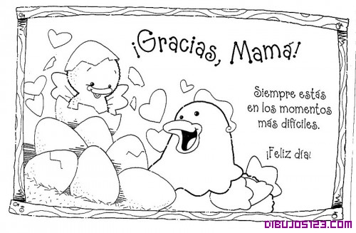 Día de la Madre. Caricaturas para colorear | Imágenes actual