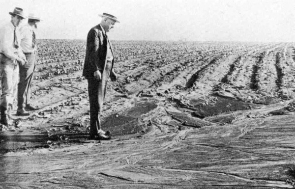 Hugh Hammond Bennett, a soil surveyor with the USDA, had spent 20 years investigating soils in every state in the nation.  He began a national crusade to stop the The Menace of Soil Erosion that had led to the decline of other great civilizations. In 1933, Congress authorized $5million to create the Soil Erosion Service with Bennett as it chief.