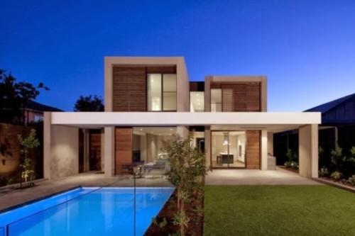 Fachadas de casas minimalistas modernas y de dos pisos for Fotos fachadas casas modernas minimalistas