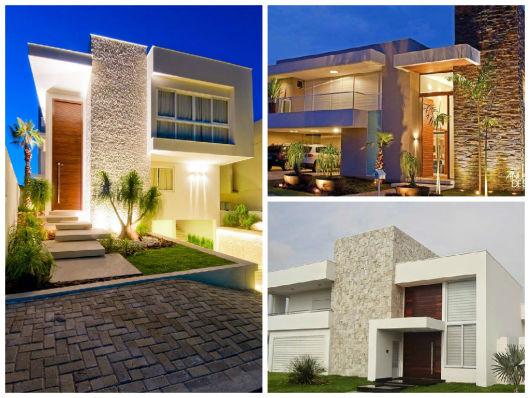 Fachadas de casas minimalistas modernas y de dos pisos Fotos de fachadas de casas minimalistas