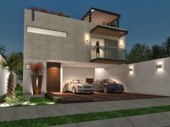 60 bonitas fachadas de casas minimalistas sencillas y for Viviendas minimalistas pequenas