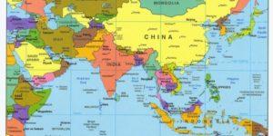 Imágenes de las banderas, mapas, paises y capitales de Asia