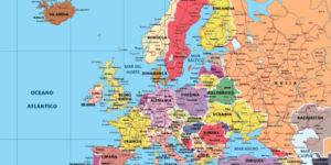 Imágenes de las banderas, mapas, paises y capitales de Europa