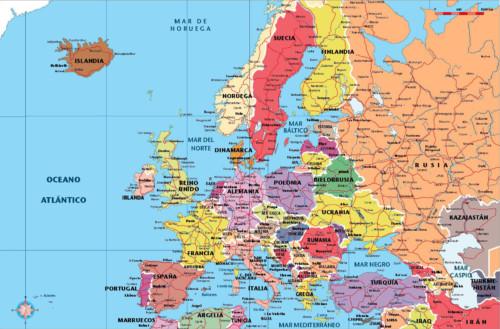 Imgenes de las banderas mapas paises y capitales de Europa