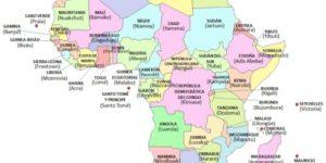 Imágenes de banderas, mapas, paises y capitales de Africa