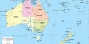 Imágenes de banderas, mapas, paises y capitales de Oceanía