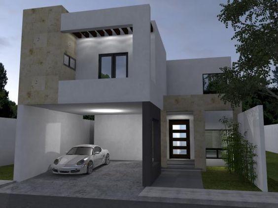 60 bonitas fachadas de casas minimalistas sencillas y for Piedras para fachadas minimalistas