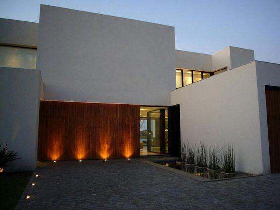 60 bonitas fachadas de casas minimalistas sencillas y for Imagenes de interiores de casas minimalistas