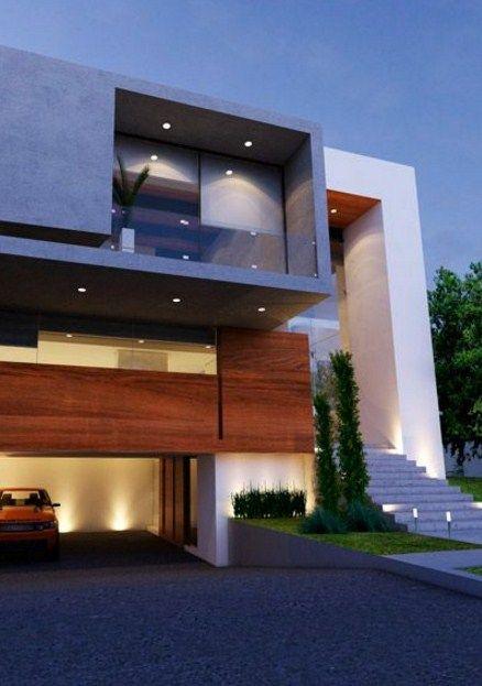 Fachadas de casas minimalistas modernas y de dos pisos for Colores en casas minimalistas