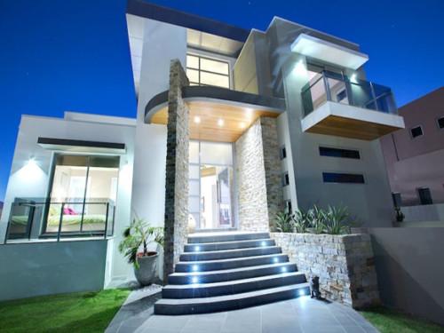 Fachadas de casas minimalistas modernas y de dos pisos for Casa minimalista de un piso