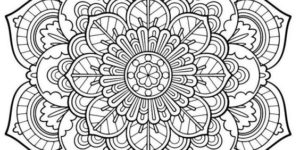 Imágenes de Mandalas con dibujos para colorear