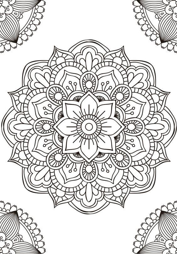 Im genes de mandalas dibujos de mandalas para colorear - Dibujos juveniles para imprimir ...