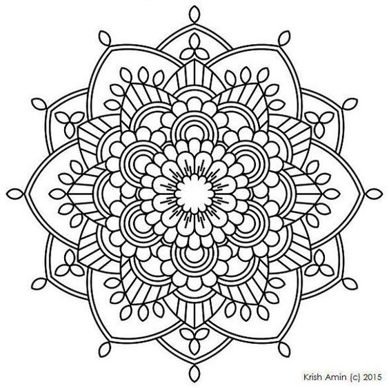 Im genes de mandalas dibujos de mandalas para colorear for Blank flower coloring pages