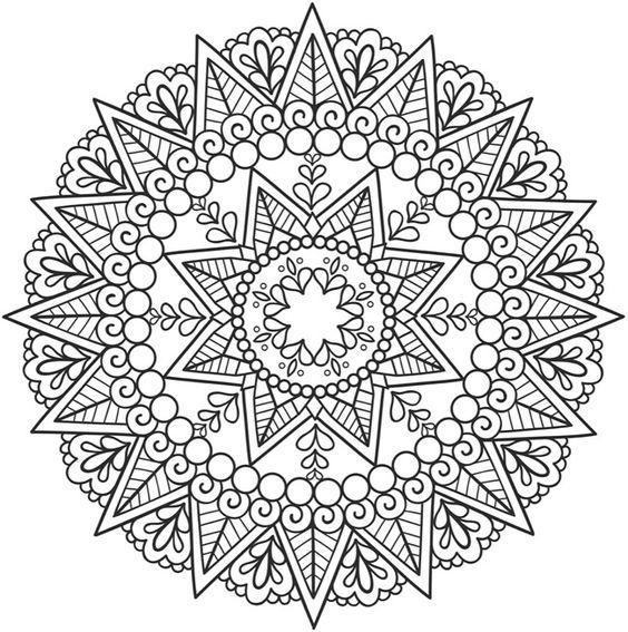Imágenes de Mandalas » Dibujos de MANDALAS para Colorear