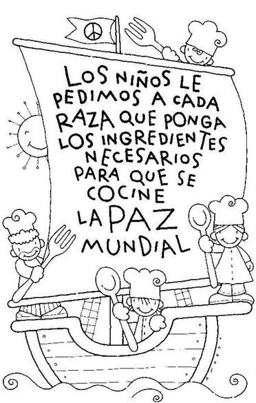 Imágenes del Día de la Raza para niños con frases, para pintar ...