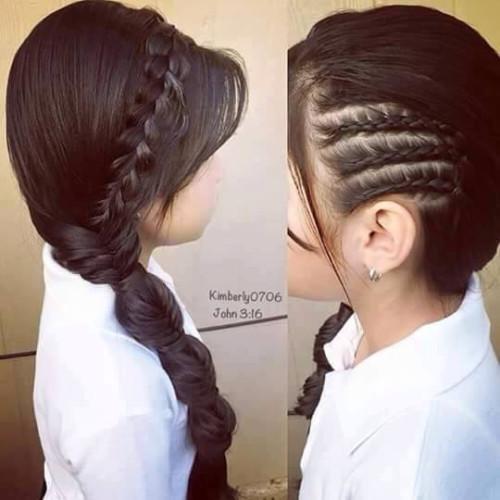 Imagenes De Peinados Con Trenzas Para Ninas - Peinados-con-trenzas-a-un-lado
