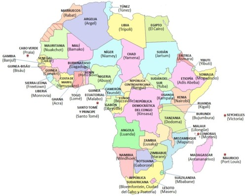 Banderas Mapas Paises Y Capitales De Africa Para Descargar E