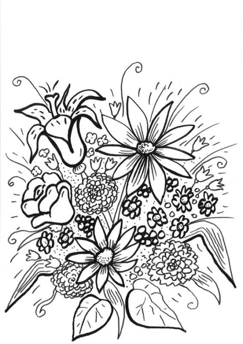 11098-flores-silvestres-dibujo-para-colorear-e-imprimir | Imágenes ...