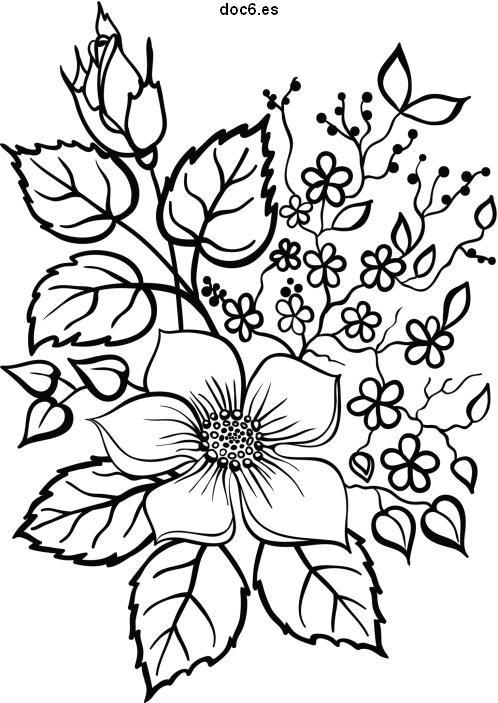 dibujos-para-colorear-flores-sencillas | Imágenes actual