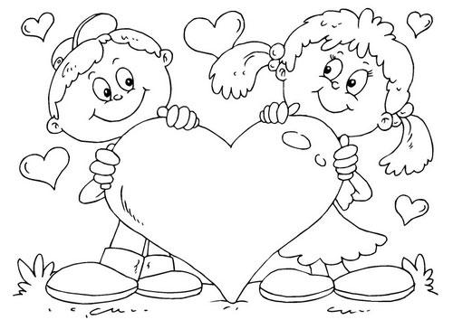 Colorear Dibujos De Amor Y Amistad Imagenes Actual