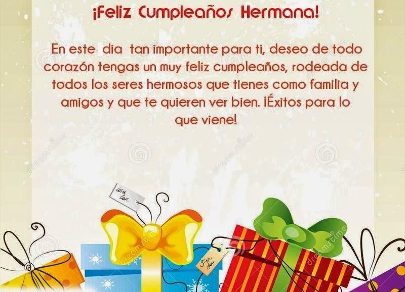 Imágenes Frases Y Tarjetas De Feliz Cumpleaños Hermana