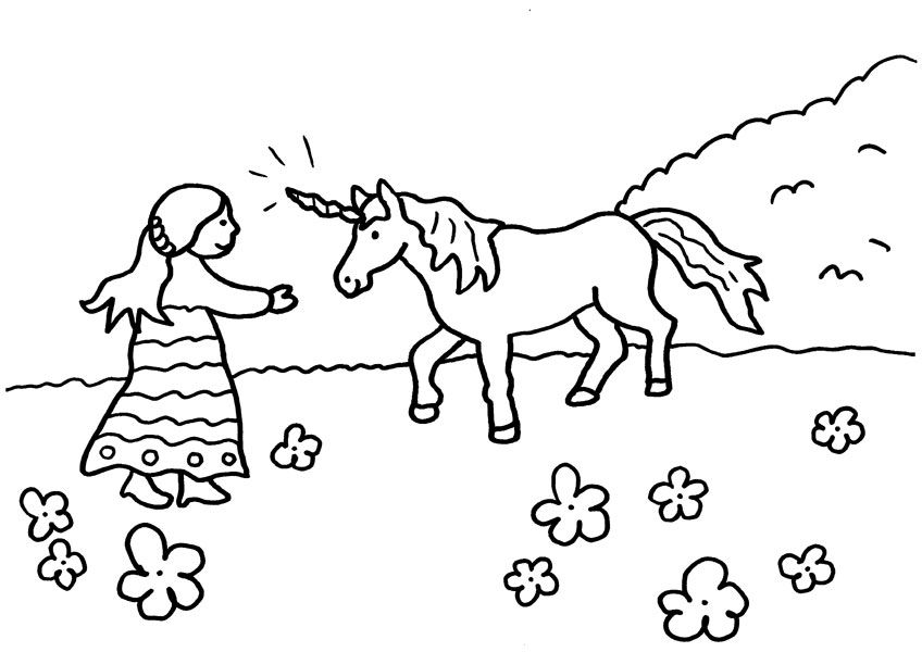 Imágenes de UNICORNIO » Kawaii, para Dibujar, Colorear, con Frases