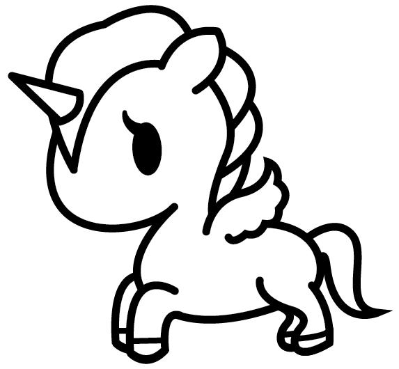 Imagenes De Unicornio Kawaii Para Dibujar Colorear Con Frases