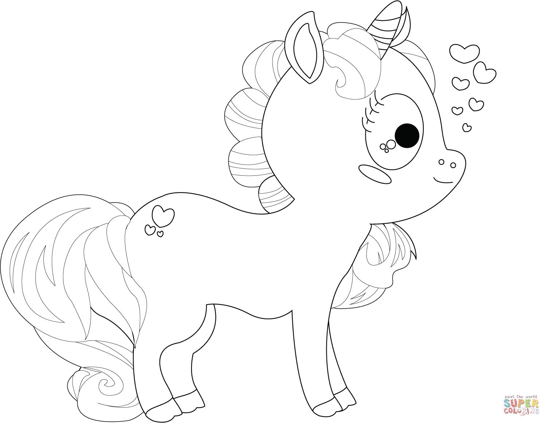 Imágenes De Unicornio Kawaii Para Dibujar Colorear Con Frases