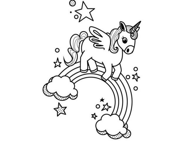 dibujos para colorear kawaii unicornios