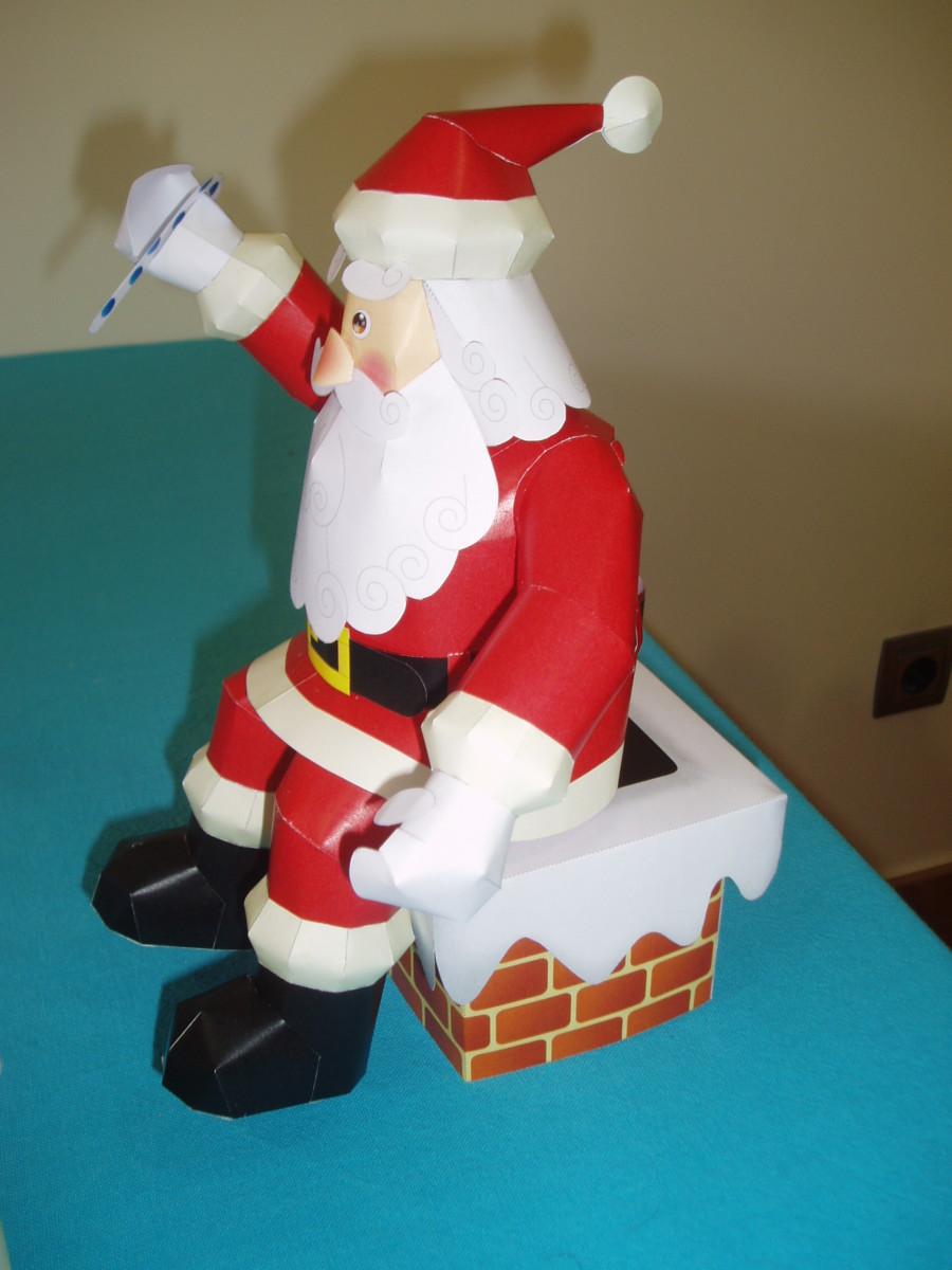 Disenos De Papa Noel Manualidades Para Decorar En Navidad - Manualidades-navideas-papa-noel