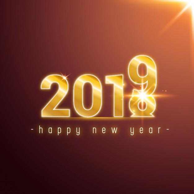 50 Diseños De Tarjetas De Año Nuevo 2019