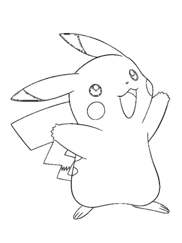 40 Imágenes De Pikachu Tiernas Kawaii Para Colorear Con Frases