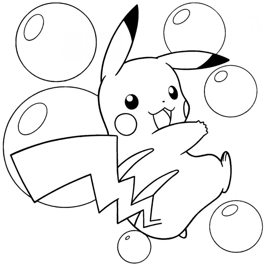 40 Imágenes De Pikachu Tiernas Kawaii Para Colorear Con
