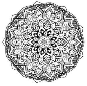 Imagenes De Mandalas A Color Para Colorear Faciles Y Dificiles