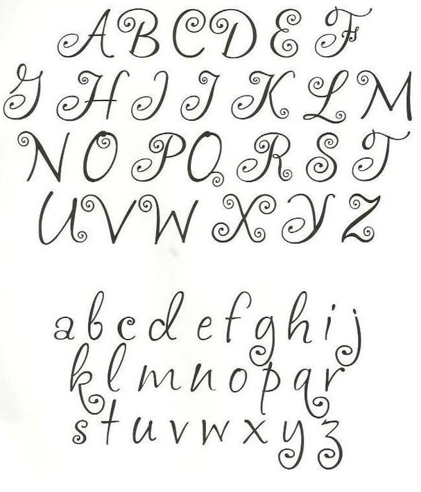 Moldes De Letras Cursivas Para Imprimir Abecedario En Letra Grande