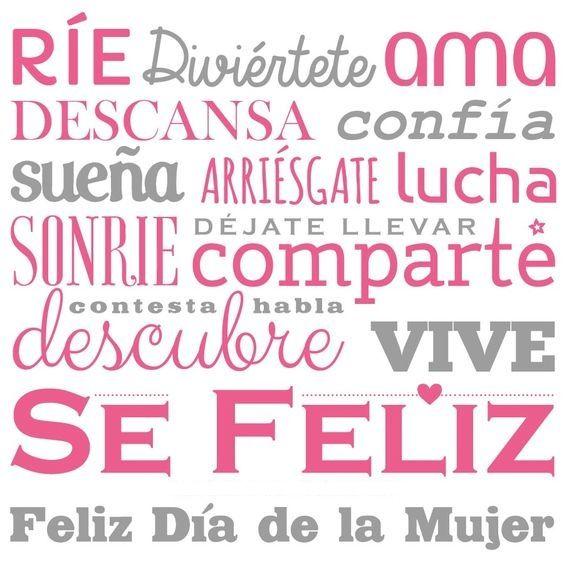 Frases Para Felicitar El Dia De La Mujer Imagenes Y Mensajes Bonitos Feliz dia internacional de la mujer.✊👧. mujer imagenes y mensajes bonitos